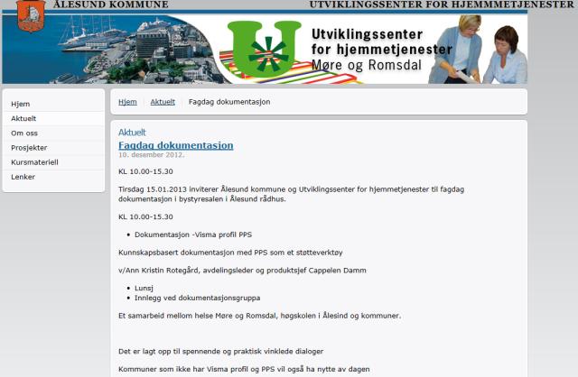 Fagdag dokumentasjon i Ålesund