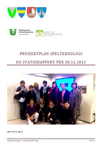 Prosjektplan spillteknologi forside