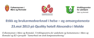 Etikkonferanse i Molde i mai