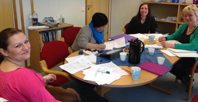 Team Tryggleik planlegger læringsnettverk.