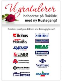 Takkeannonse til bidragsytere i Tidens Krav 10. mai, dette ble også organisert av Jan Belden.