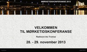 Mørketidskonferanse i Tromsø- eldre og psykisk helse