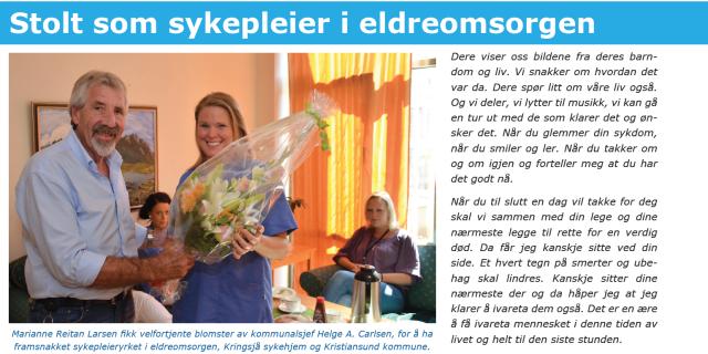 Skjermdump nyhetsbrevet Kristiansund