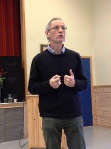 Aart Huurnink, overlege Lindrende enhet Boganes sykehjem, Stavanger foreleste hele dag 2 om et svært aktuellt og spennende tema Palliativ omsorg for mennesker med demens