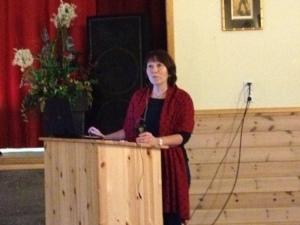 Grete Søbstad fra St.Olavs foreleste om symptomlindring og bruk av verktøy