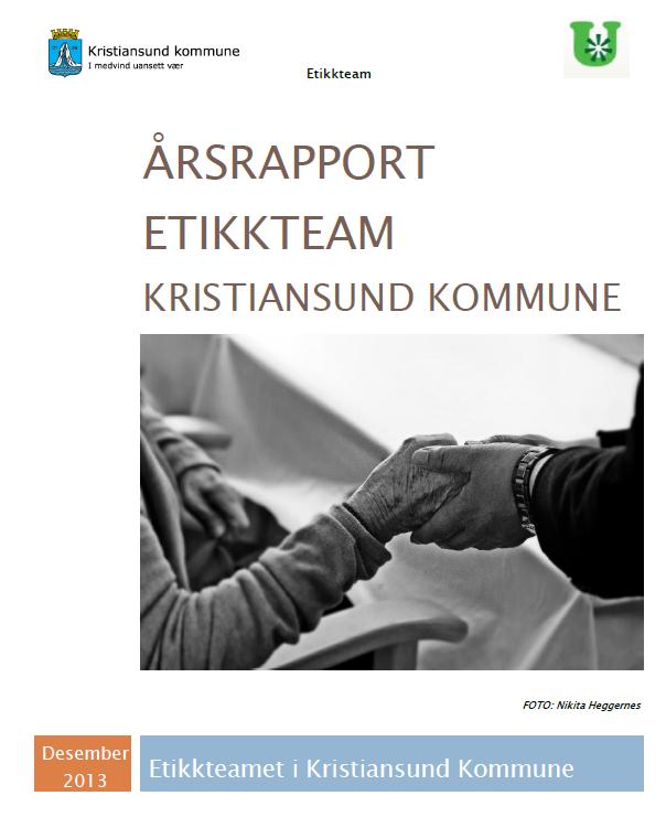 Forsiden: Årsrapport etikkteam Kristiansund kommune