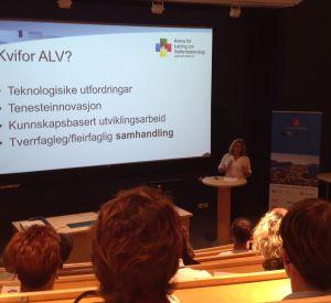 Prosjektleder Helen Berg: Hvordan skal vi arbeide for å gjøre teknologien mer allmenn tilgjengelig innenfor pleie- og omsorg?  Dette er noe av det en har fokus på framover i ALV møre.
