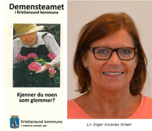 Demenskoordinator i Kristiansund Liv Inger Korsnes Nilsen er leder av demensteamet.