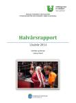 Halvårsrapport andre halvår 2014