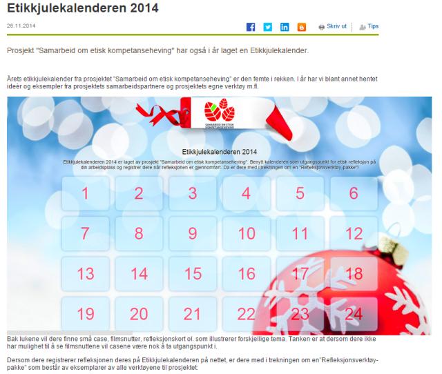 Etikkjulekalenderen 2014