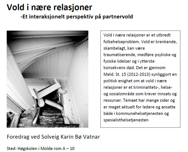 Fagdag ved Høgskolen i Molde