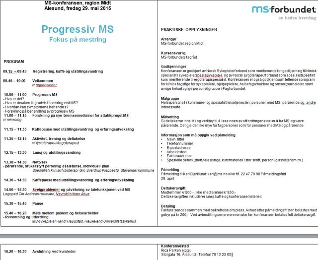 Progressiv MS- fokus på mestring