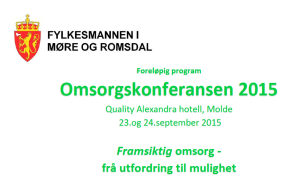 Omsorgskonferansen 2015