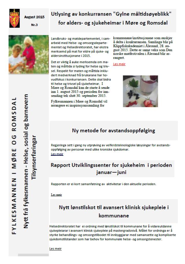 Nytt fra Fylkesmannen i Møre og Romsdal
