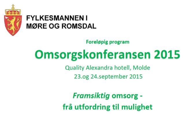 Omsorgskonferansen 2015 heading program
