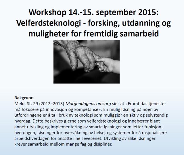 Workshop 14.-15.september