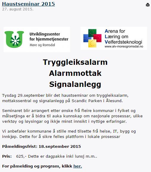 Høstseminar i Ålesund