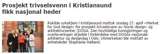 Designpris til Rokilde sykehjem