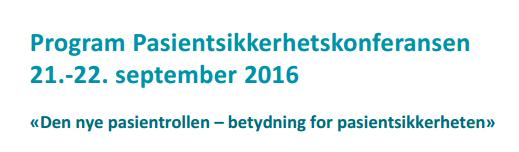 Pasientsikkerhetskonferanse i Tromsø